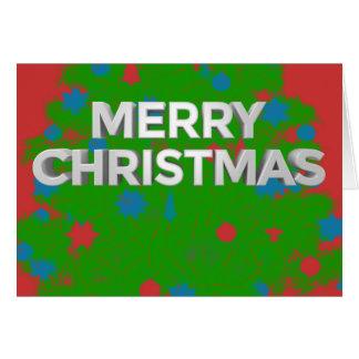 Merry Christmas 3D Text with Custom Inside Wording Card