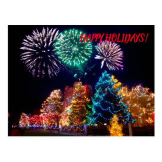 Merry Christmas And Happy Holidays Postcard