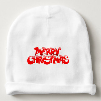 merry christmas and happy new year baby beanie
