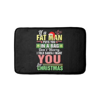 Merry Christmas and Santa Claus Bath Mat