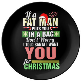 Merry Christmas and Santa Claus Plate