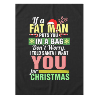 Merry Christmas and Santa Claus Tablecloth