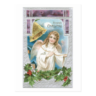 Merry Christmas - Angel Rings the Bell of Joy Postcard