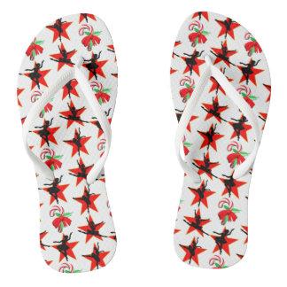 MERRY CHRISTMAS BALLERINA DESIGN JANDALS