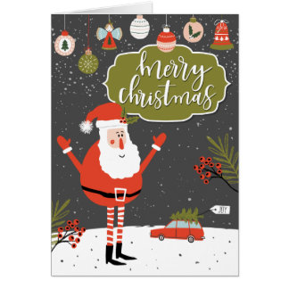 """Merry Christmas"" Christmas Greeting Card"