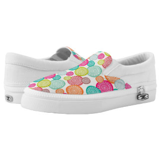Merry Christmas Circle Pattern Slip On Shoes