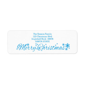 Merry Christmas Classic Return Address Label