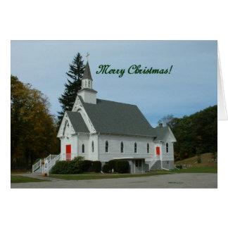 Merry Christmas!  Country Church Card