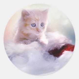 Merry Christmas Cute Kitten Stickers