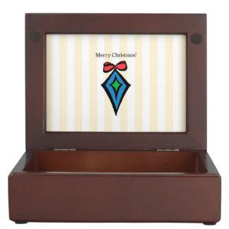 Merry Christmas Diamond Ornament Keepsake Box YEL