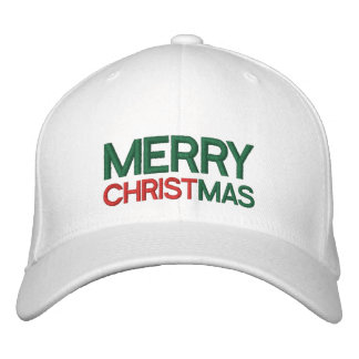 Merry Christmas Embroidered Hat