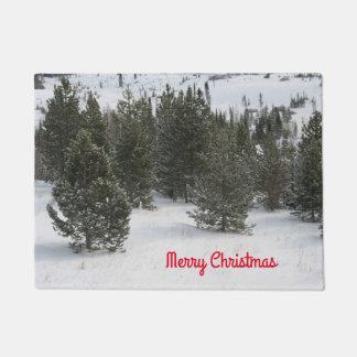 Merry Christmas Evergreen Doormat