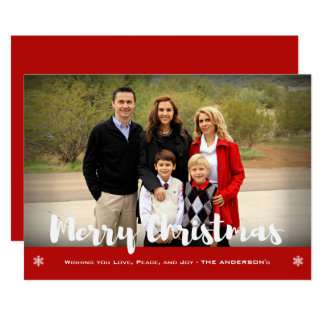 Merry Christmas Family Photo Holiday Greeting Card