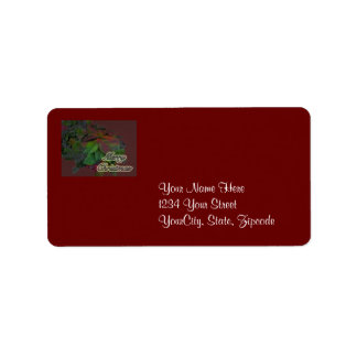 Merry Christmas Floral Poinsettia Address Label