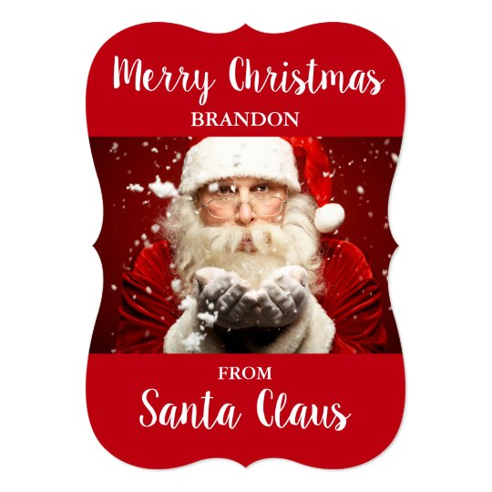 Merry Christmas From Santa Claus ADD NAME Card RB