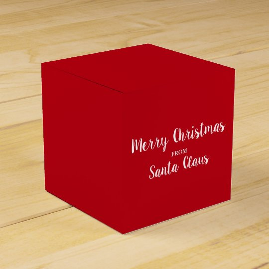 Merry Christmas From Santa Claus Red Square Favour Box