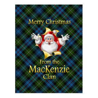 Merry Christmas From the MacKenzie Clan Postcard