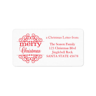 Merry Christmas graphic Address Label