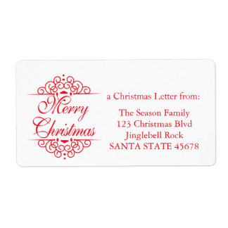 Merry Christmas graphic Shipping Label