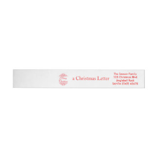 Merry Christmas graphic Wraparound Address Label