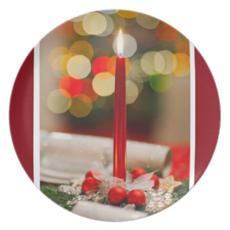 Merry Christmas Happy Holidays Season's Greetings Plates