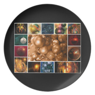 Merry Christmas Happy Holidays Season's Greetings Party Plate