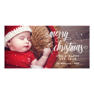 Merry Christmas & Happy New Year Calligraphy Card