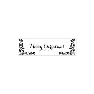 Merry Christmas Happy New Year Self-inking Stamp