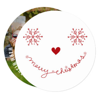 Merry Christmas Happy Smiley Holiday Photo Card