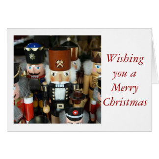 Merry Christmas Happy with nut cracker Greeting Card