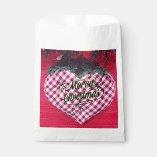Merry Christmas Heart Favour Bags