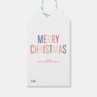 MERRY CHRISTMAS holiday christmas Gift Tags
