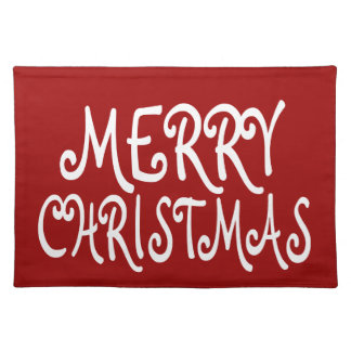 Merry Christmas Holiday Placemats