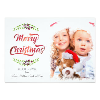 Merry Christmas Laurels Red ID293 Card