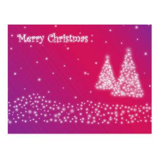 merry christmas lilac postcard