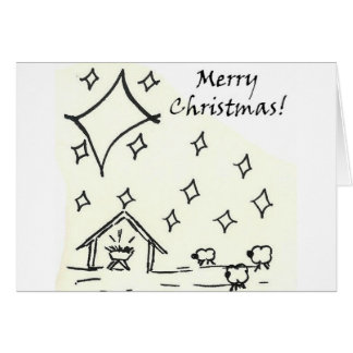 """""""Merry Christmas"""" manger card and envelope"""
