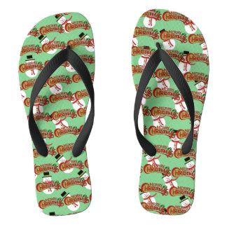Merry Christmas Men's Flip Flops