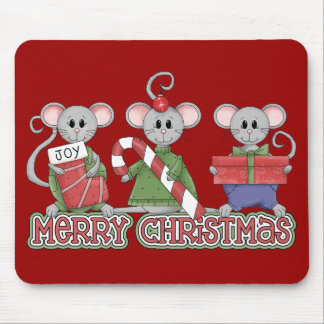 Merry Christmas Mice Mouse Pad