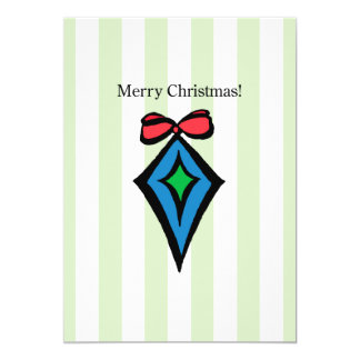 Merry Christmas Ornament 5 x 7 Ultra Thick Card