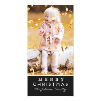 Merry Christmas Photo Card - Black Overlay