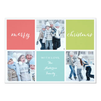 Merry Christmas photo card, colorful, holiday card