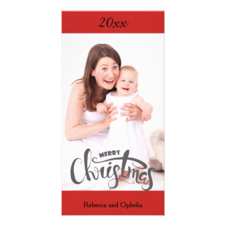 Merry Christmas Photo Card Personalized