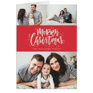 MERRY CHRISTMAS photo christmas greeting card
