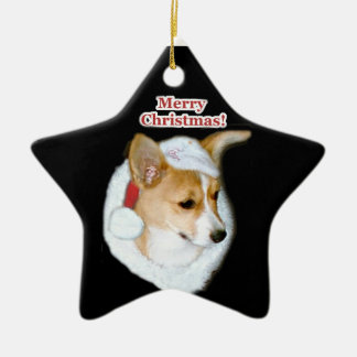 Merry Christmas Pippin Pup Star Ornament