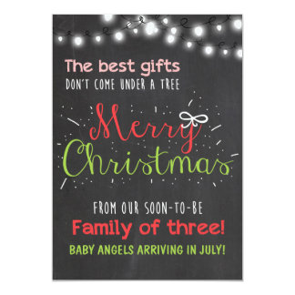 Merry Christmas pregnancy chalkboard announcement