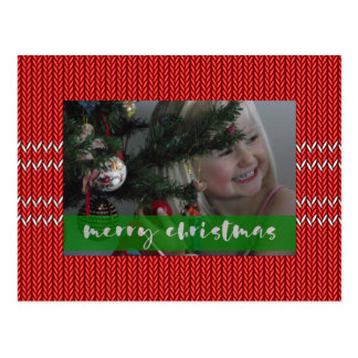 Merry Christmas Red Sweater Postcard