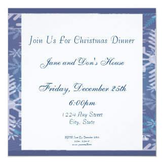 Merry Christmas Sign with Snowman and Reindeer 13 Cm X 13 Cm Square Invitation Card