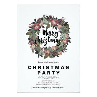 Merry Christmas single side Card