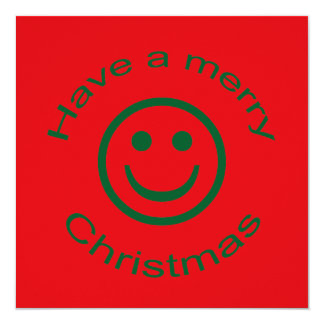 Merry Christmas Smiley Card
