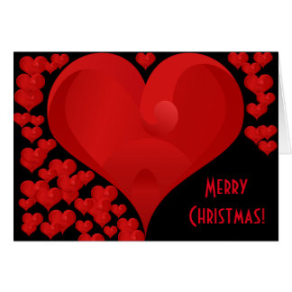 Merry Christmas, Sweet Valentine Love Hearts Red Card